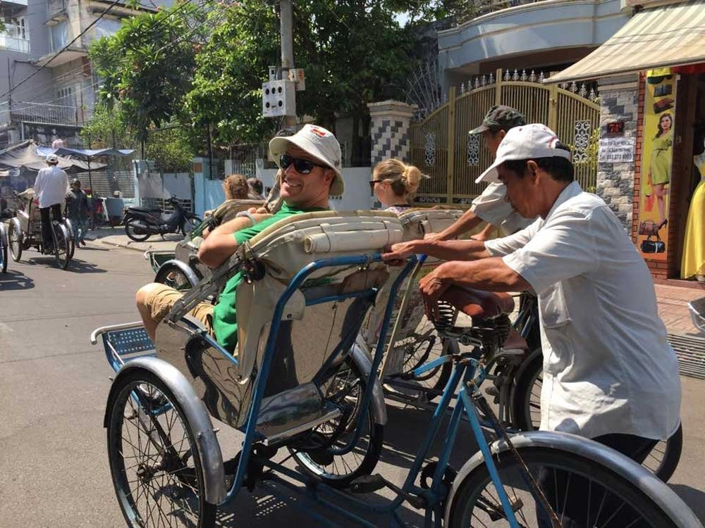 Travel scams - Rickshaw ride Vietnam