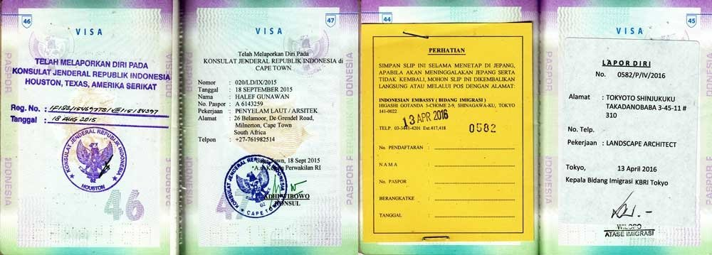 travel registration- INdonesia