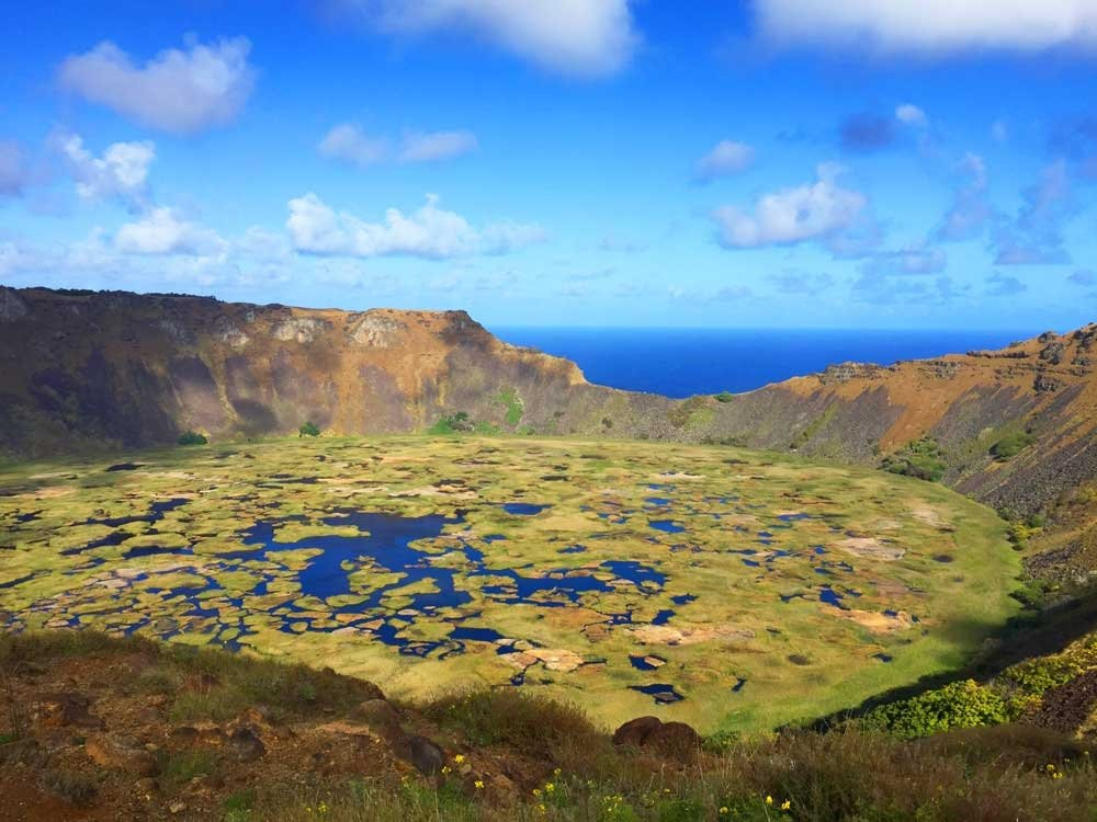 Highlights of Easter Island - Rano Kau ancient volcano