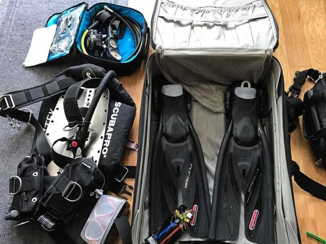 Packing for a liveaboard - Dive equipment