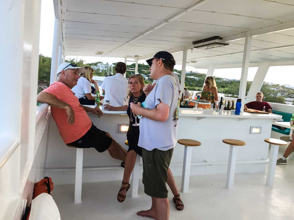 Turks and Caicos Aggressor - The bar on the upper deck