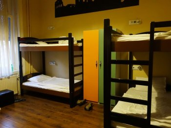full moon design hostel budapest dorm room