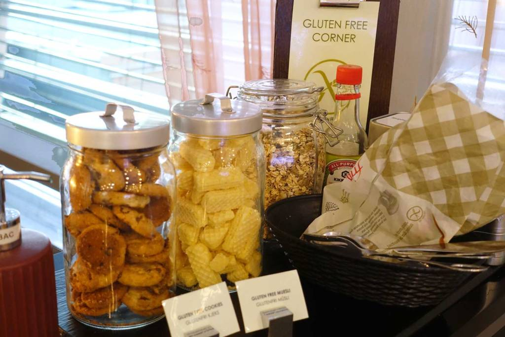 The gluten free food corner at OSL Lounge