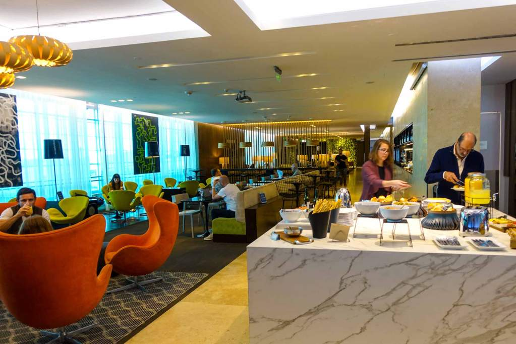 wide view of Amex lounge EZE