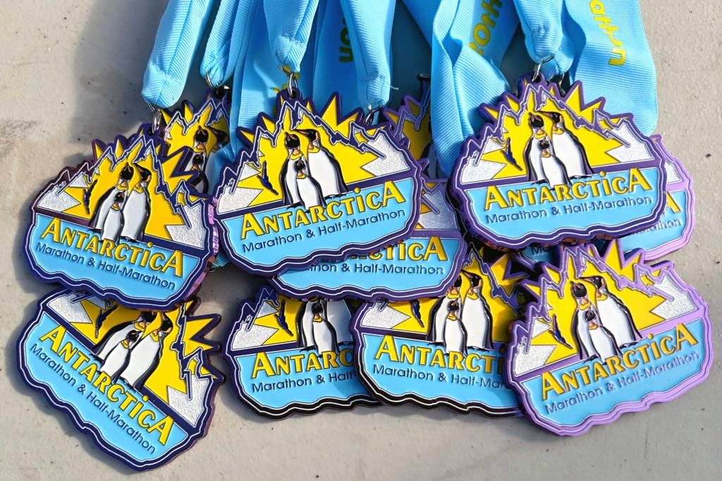 Antarctica Marathon finisher medal