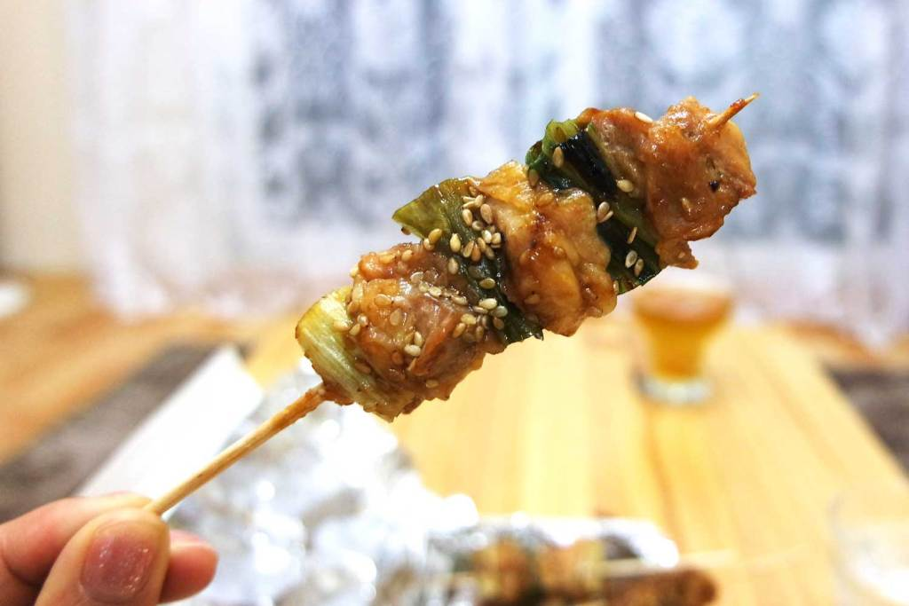 An authentic Japanese dish is Yakitori