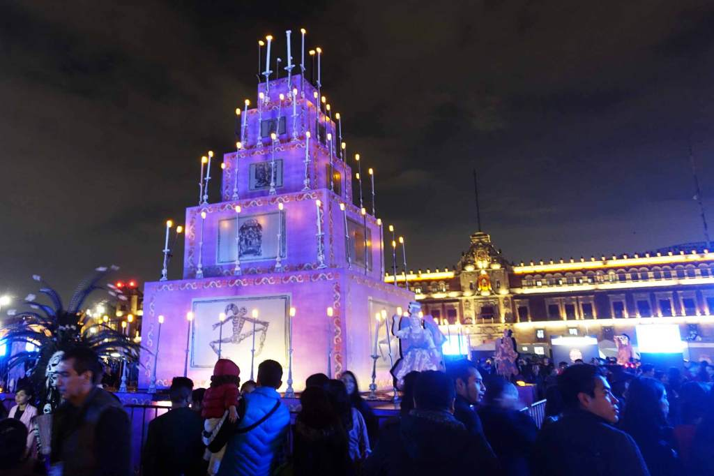 a large ofrenda in mexico city's zocalo