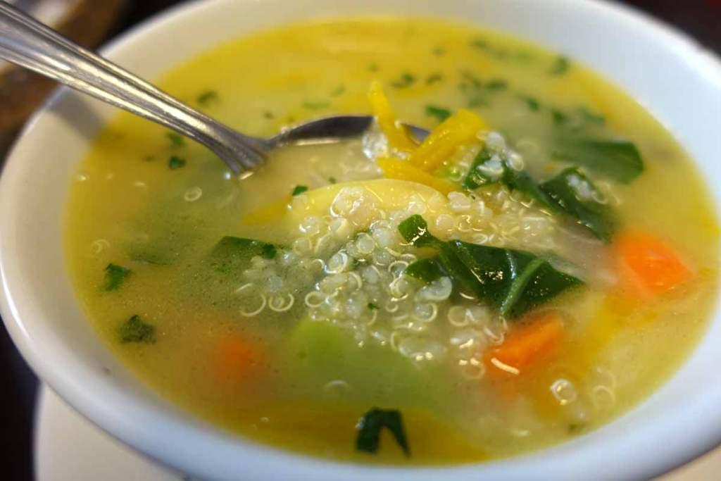 Quinoa soup at San Pedro Market in Cusco