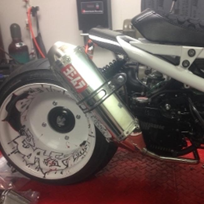 honda ruckus yoshimura stainless steel exhaust for fatty tire