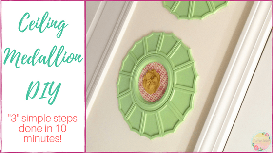 Ceiling Medallion DIY 3 simple steps