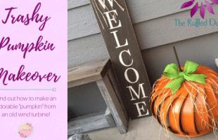 Trashy Pumpkin Makeover with a Wind Turbine