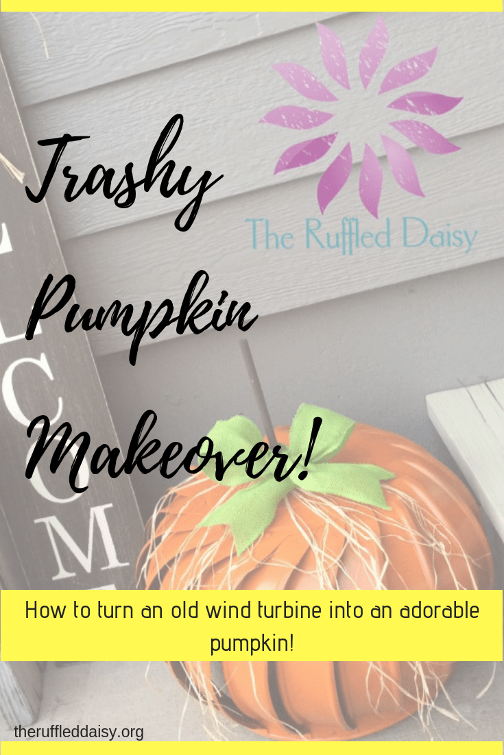 Trashy Pumpkin Makeover