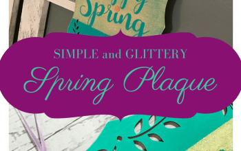 Glittered Spring Home Decor Plaque