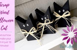 Scrap Wood Halloween Black Cat DIY