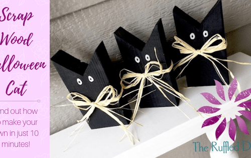 Black Cat Scrap Wood DIY