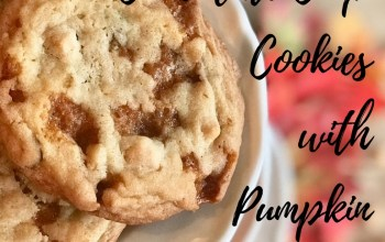 Butterscotch Chocolate Chip Cookies with Pumpkin Marshmallows
