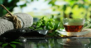 in home spa tea