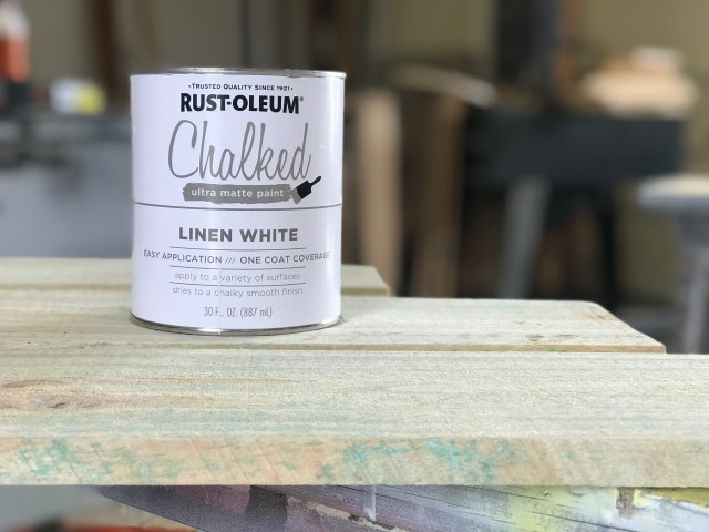 DIY Serving Station Chalked Paint