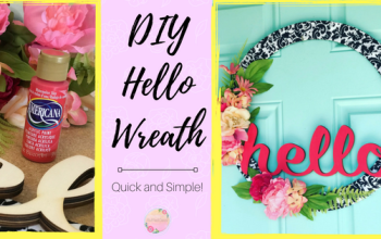 Quick and Easy HELLO Wreath
