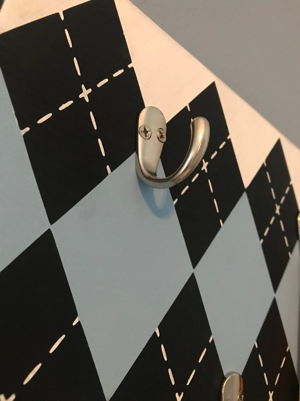 Easy Argyle Design DIY Close Up hooks