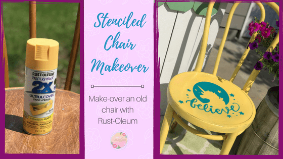 Quick and Easy Stenciled Chair Makeover