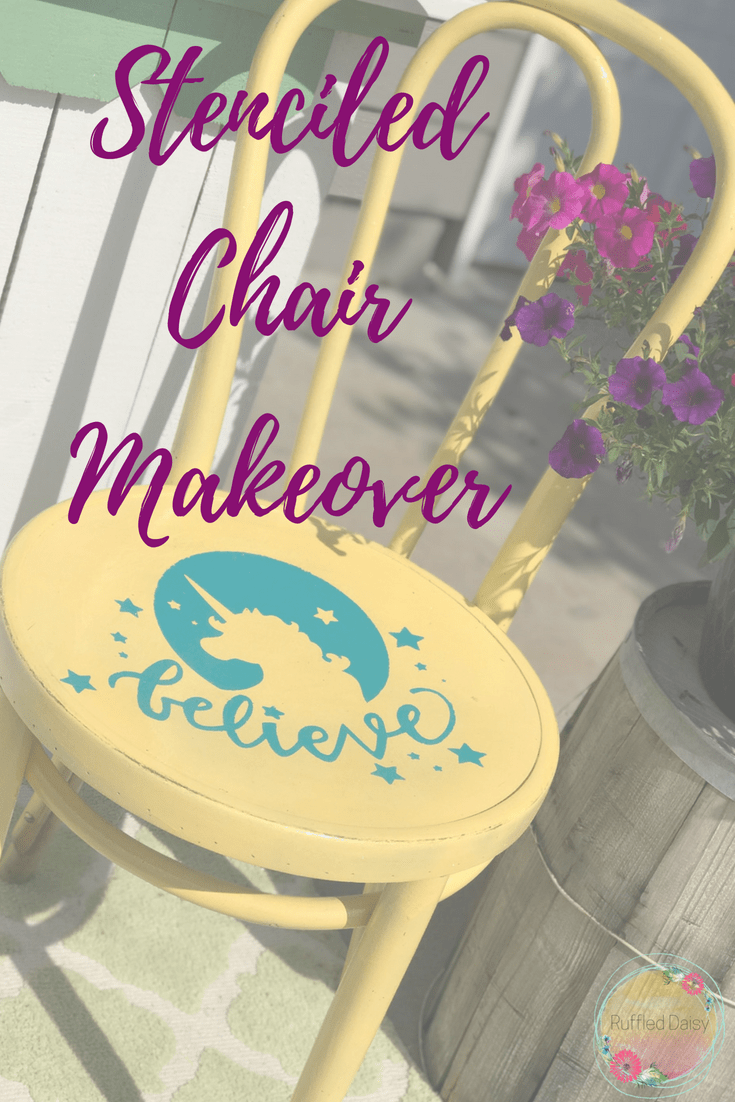 Stenciled Chair Makeover PIN