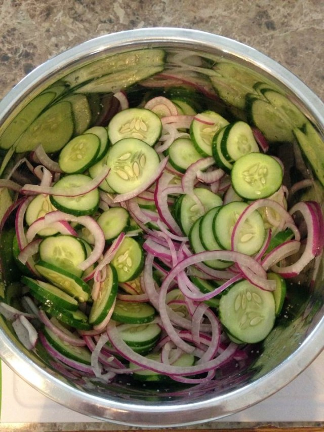 sweet pickles veggies cut