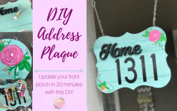 DIY Home Address Plaque