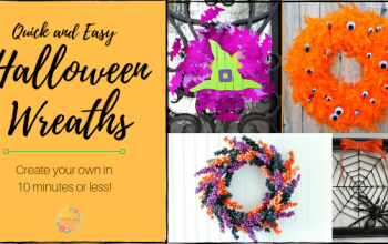 Quick and Easy Halloween Wreaths