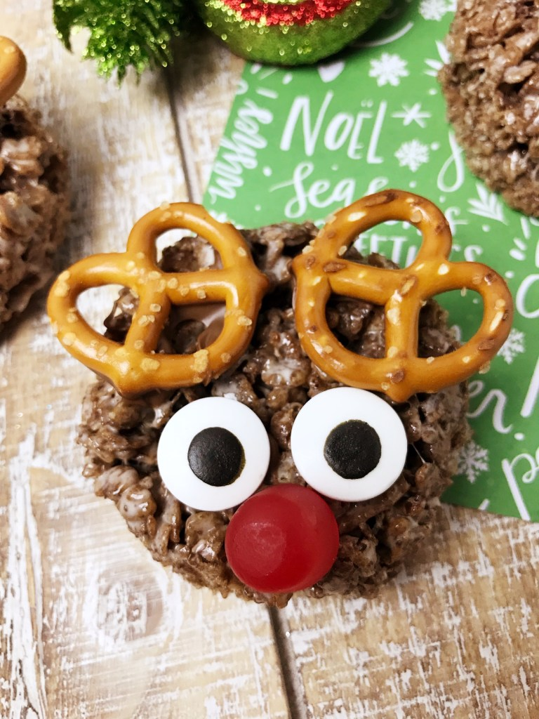 Rudolph Rice Krispie treats complete