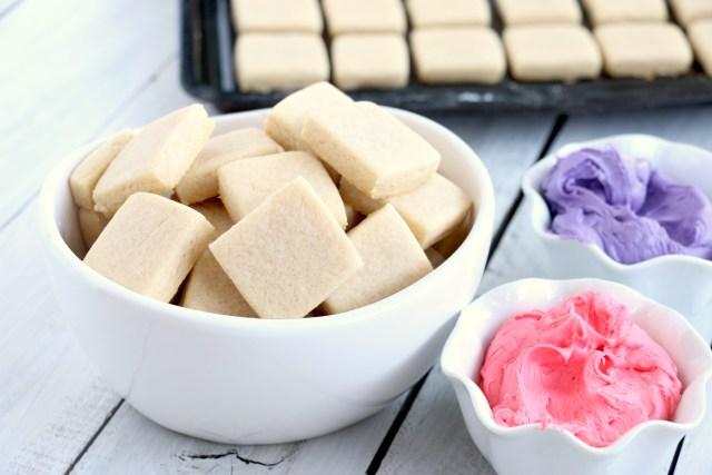 sweet sugar cookie bites frosting