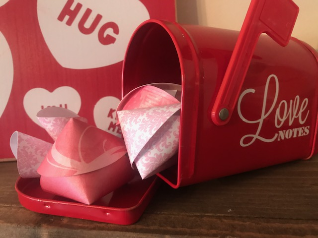 Valentine's Fortune Cookie DIY mailbox sample