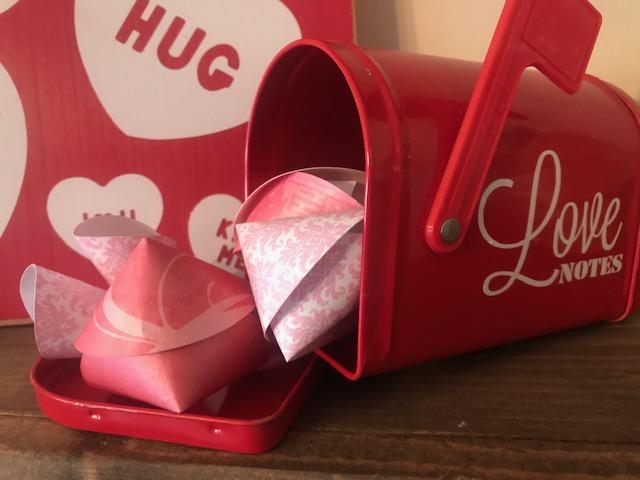 Valentine's Fortune Cookie DIY mailbox sample