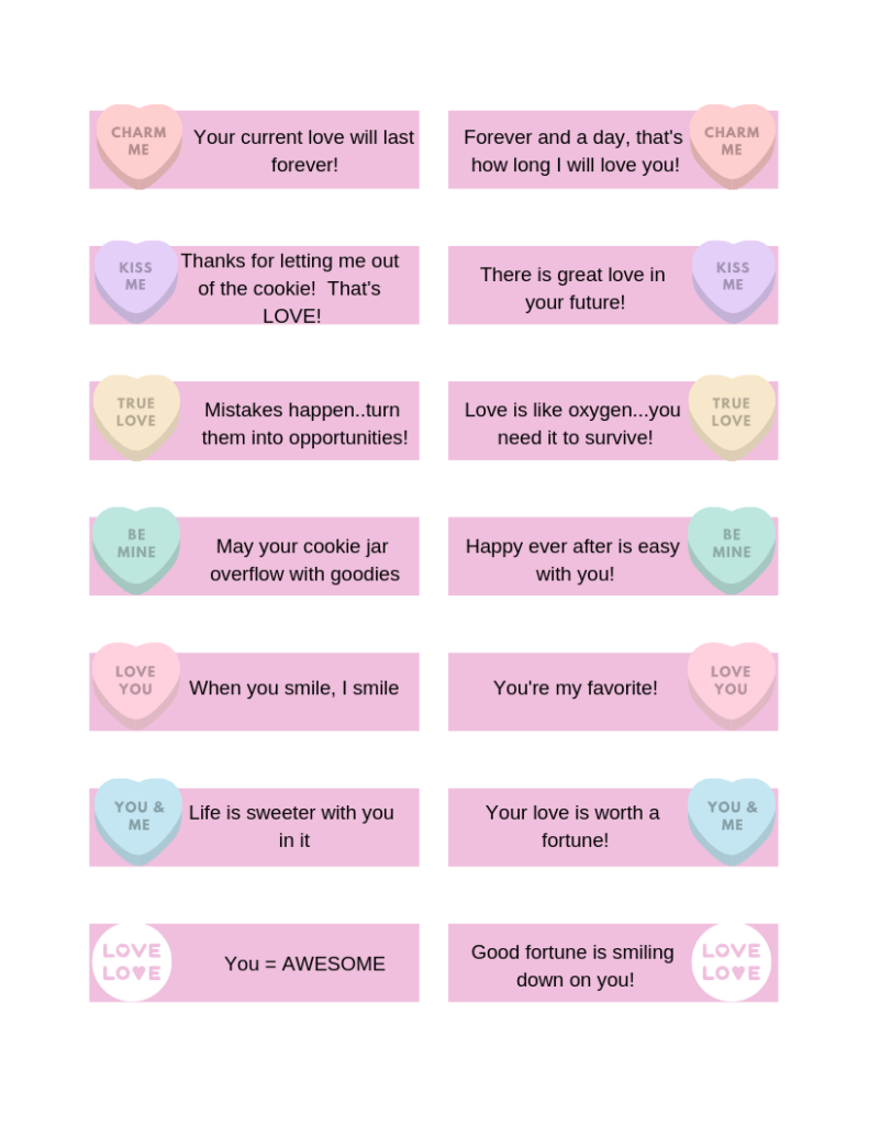 Valentine's Fortune Cookie DIY download