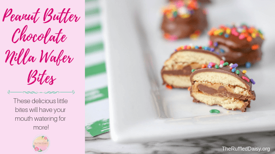 Peanut Butter Chocolate Nilla Wafer Bites
