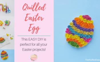 Easy Quilled Easter Egg DIY
