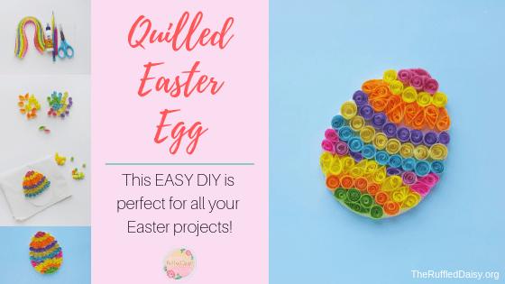 Quilled Easter Egg DIY