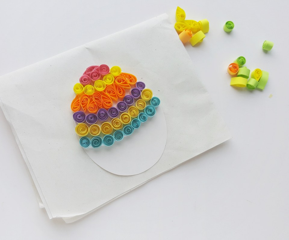 Quilled Easter Egg How To