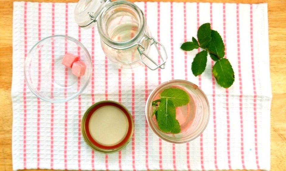 Bubblegum Mint Mojito Step 1