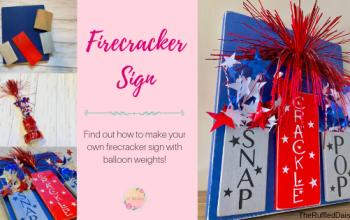 Easy DIY Firecracker Sign