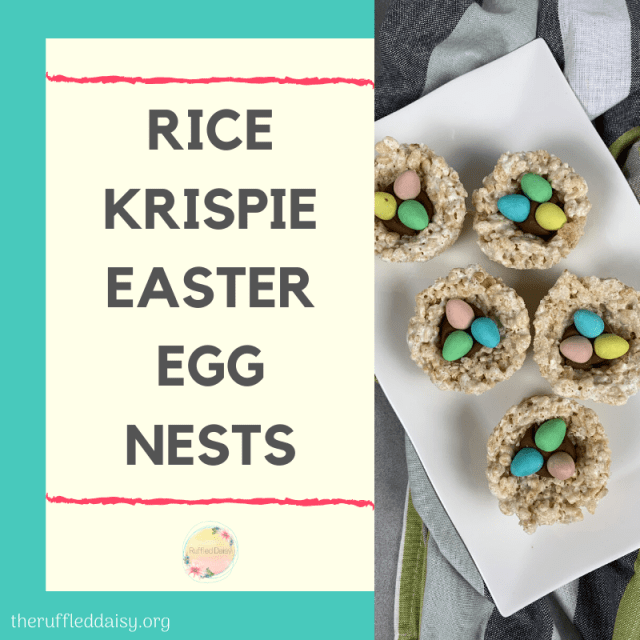 Rice Krispie Easter Egg Nests FB
