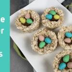 Rice Krispie Easter Egg Nests