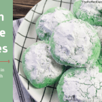 Grinch Crinkle Cookies