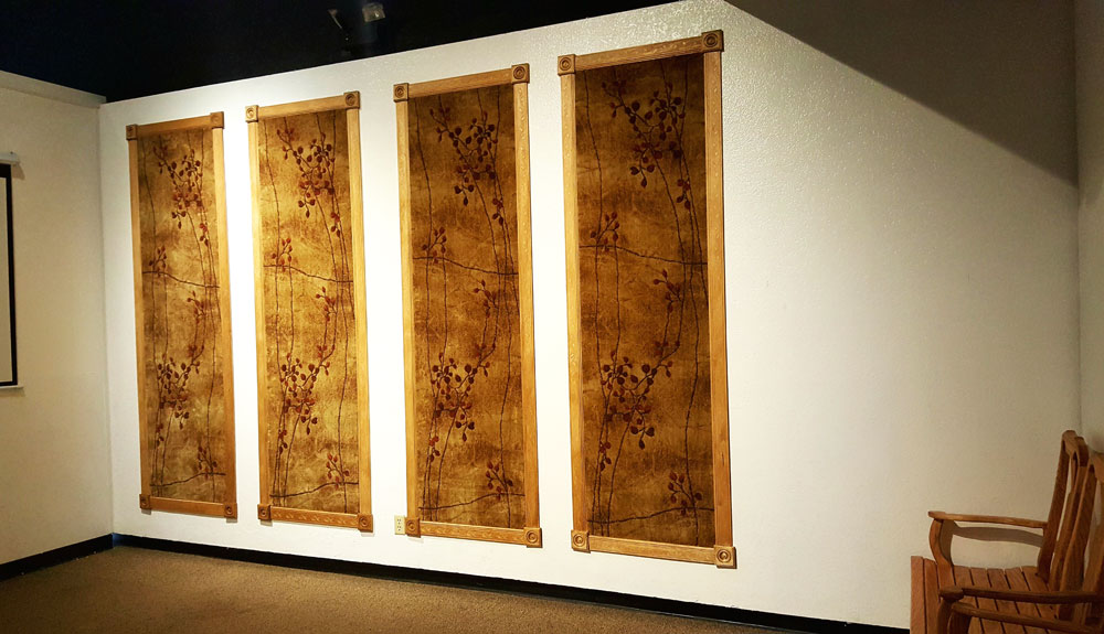 Perfect wall accent rugs - Somerset rugs at the Arizona Museum of Natural History