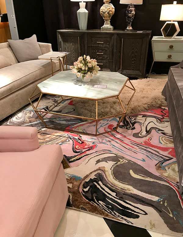 Gabby pink accented living room