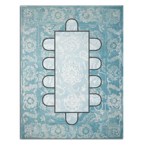 Dining room layout  12 15 rug. How to pick the right size rug for your room   The Rug Edit