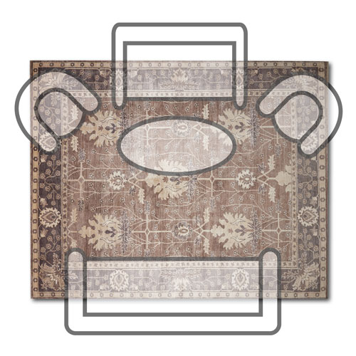 How to pick the right rug size for your room - 8x10 living room rug