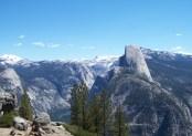 Yosemite National Park, Half Dome and surrounding vista.