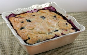 Saucy Peach and Blueberry Cobbler
