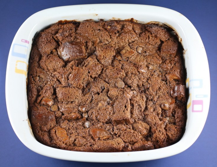 Decandent Chocolate Bread Pudding
